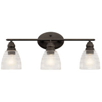 Kichler 45697OZ Karmarie 3 Light 25 inch Olde Bronze Wall Mt Bath 3 Arm Wall Light alternative photo thumbnail