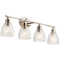 Kichler 45698PN Karmarie 4 Light 35 inch Polished Nickel Bath Vanity Wall Light