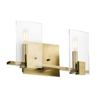 Kichler 45702NBR Signata 2 Light 16 inch Natural Brass Bath Bracket Wall Light