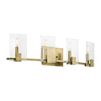 Kichler Signata 4 Light Bath Bracket in Natural Brass 45704NBR