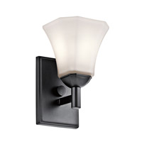 Kichler 45731BK Serena 1 Light 6 inch Black Wall Bracket Wall Light