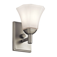 Serena 1 Light 6 inch Brushed Nickel Wall Bracket Wall Light