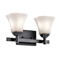 Serena 2 Light 15 inch Black Bath Light Wall Light