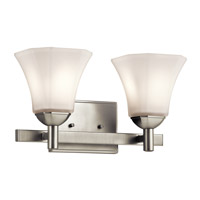 Serena 2 Light 15 inch Brushed Nickel Bath Light Wall Light