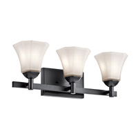 Serena 3 Light 23 inch Black Bath Light Wall Light