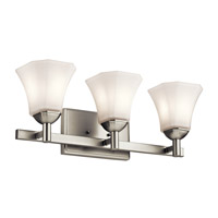 Serena 3 Light 23 inch Brushed Nickel Bath Light Wall Light