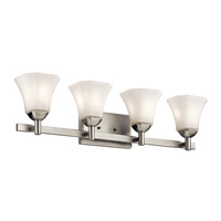 Serena 4 Light 31 inch Brushed Nickel Bath Light Wall Light