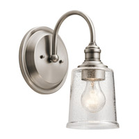 Kichler 45745CLP Waverly 1 Light 7 inch Classic Pewter Wall Bracket Wall Light