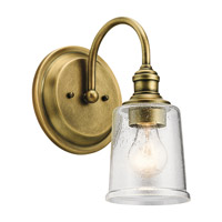 Waverly 1 Light 7 inch Natural Brass Wall Bracket Wall Light
