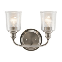 Kichler 45746CLP Waverly 2 Light 15 inch Classic Pewter Vanity Light Wall Light