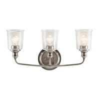 Kichler 45747CLP Waverly 3 Light 24 inch Classic Pewter Vanity Light Wall Light
