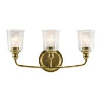 Kichler 45747NBR Waverly 3 Light 24 inch Natural Brass Vanity Light Wall Light