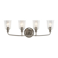 Waverly 4 Light 33 inch Classic Pewter Vanity Light Wall Light
