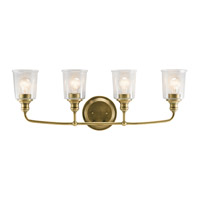 Waverly 4 Light 33 inch Natural Brass Vanity Light Wall Light