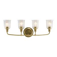 Kichler 45748NBR Waverly 4 Light 33 inch Natural Brass Vanity Light Wall Light