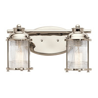 Kichler 45771PN Ashland Bay 2 Light 14 inch Polished Nickel Vanity Light Wall Light