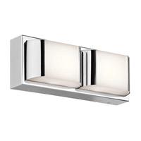 Kichler 45820CHLED Nita LED 12 inch Chrome Linear Bath Medium Wall Light