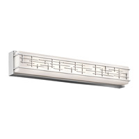 Kichler 45831CHLED Zolon LED 3 inch Chrome Linear Bath Large Wall Light