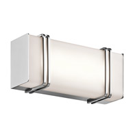 Impello LED 12 inch Chrome Linear Bath Medium Wall Light