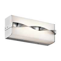 Kichler 45844CHLED Tori LED 12 inch Chrome Linear Bath Medium Wall Light