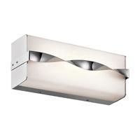 Kichler 45844CHLED Tori LED 12 inch Chrome Linear Bath Medium Wall Light
