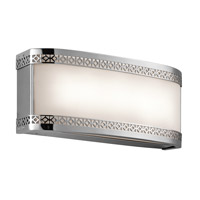 Kichler 45851CHLED Contessa 2 Light 12 inch Chrome Bath Light Wall Light