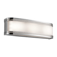 Kichler 45852CHLED Contessa 3 Light 18 inch Chrome Bath Light Wall Light