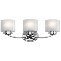 Kichler 45863CH Archer 3 Light 24 inch Chrome Vanity Light Wall Light, 3 Arm