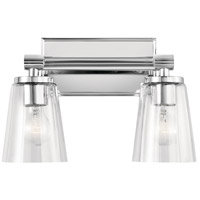 Kichler 45867CH Audrea 2 Light 14 inch Chrome Vanity Light Wall Light, 2 Arm