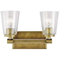 Kichler 45867NBR Audrea 2 Light 14 inch Natural Brass Vanity Light Wall Light, 2 Arm