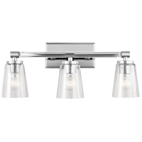 Audrea 3 Light 24 inch Chrome Vanity Light Wall Light, 3 Arm