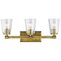 Kichler 45868NBR Audrea 3 Light 24 inch Natural Brass Vanity Light Wall Light, 3 Arm