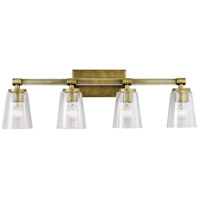Kichler 45869NBR Audrea 4 Light 30 inch Natural Brass Vanity Light Wall Light, 4 Arm