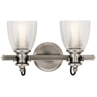 Kichler 45872CLP Flagship 2 Light 16 inch Classic Pewter Vanity Light Wall Light, 2 Arm