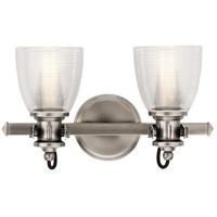 Kichler 45872CLP Flagship 2 Light 16 inch Classic Pewter Vanity Light Wall Light 2 Arm