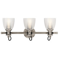 Kichler 45873CLP Flagship 3 Light 24 inch Classic Pewter Vanity Light Wall Light, 3 Arm