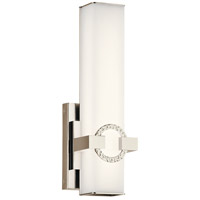 Kichler 45876PNLED Bordeaux LED 5 inch Polished Nickel Wall Sconce Wall Light