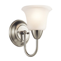 Nicholson 1 Light 6 inch Brushed Nickel Wall Sconce Wall Light in Standard