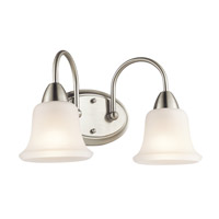 Kichler Nicholson 2 Light Wall Mt Bath 2 Arm in Brushed Nickel 45882NIFL