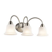 Nicholson 3 Light 24 inch Brushed Nickel Bath Vanity Wall Light in Standard