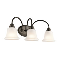 Kichler 45883OZ Nicholson 3 Light 24 inch Olde Bronze Bath Vanity Wall Light in Standard