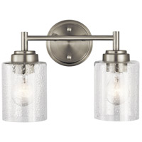 Winslow 2 Light 13 inch Brushed Nickel Vanity Light Wall Light, 2 Arm