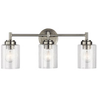 Winslow 3 Light 22 inch Brushed Nickel Vanity Light Wall Light, 3 Arm