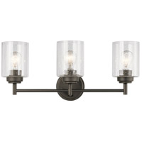 Winslow 3 Light 22 inch Olde Bronze Vanity Light Wall Light, 3 Arm
