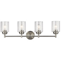 Winslow 4 Light 30 inch Brushed Nickel Vanity Light Wall Light, 4 Arm