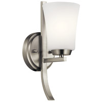 Tao 1 Light 5 inch Brushed Nickel Wall Bracket Wall Light