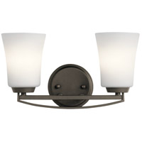 Tao 2 Light 15 inch Olde Bronze Vanity Light Wall Light, 2 Arm