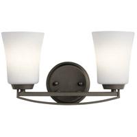 Kichler 45889OZ Tao 2 Light 15 inch Olde Bronze Vanity Light Wall Light, 2 Arm