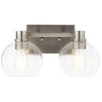 Kichler 45893NI Harmony 2 Light 16 inch Brushed Nickel Vanity Light Wall Light, 2 Arm