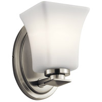 Kichler 45896NI Clare 1 Light 5 inch Brushed Nickel Wall Bracket Wall Light